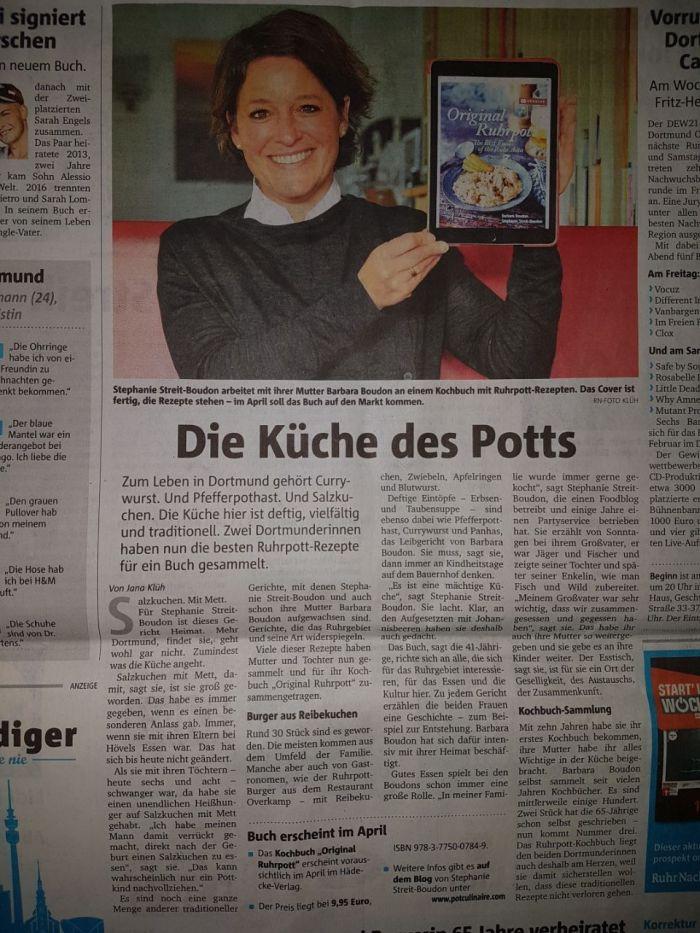 Artikel Kochbuch Ruhr Nachrichten